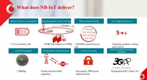 Vodafone Partners Huawei, Ericsson, Nokia and Affirmed Networks for the Expansion of Multi-Vendor NB-IoT