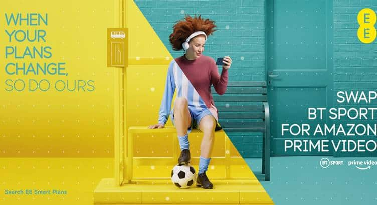 EE Offers Amazon Prime Video and Gamer's Data Pass Swappable Features to Smart Plan Customers