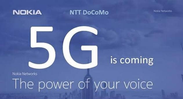 NTT DOCOMO Selects Nokia to Evolve 4G/LTE to 5G