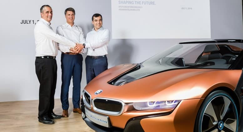 BMW Partners Intel and Mobileye to Bring Fully Autonomous Driving to Streets by 2021