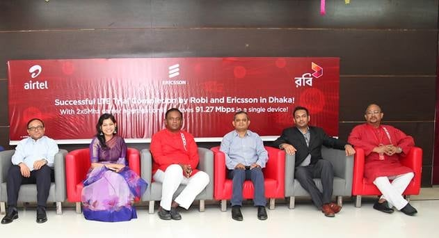 Robi Axiata, Ericsson Test HD TV and Video Conferencing in LTE Trial in Dhaka