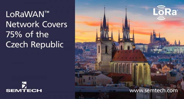 Semtech Claims Deployment of LoRaWAN Network Reaching 75% of the Czech Republic