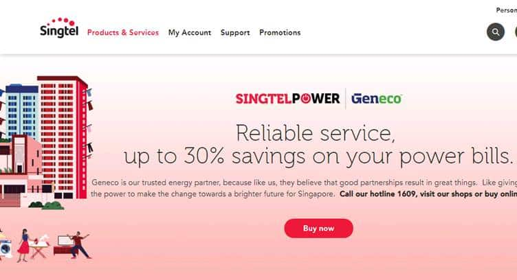 Singtel Offers Free Fixed Broadband with Electricity Plans