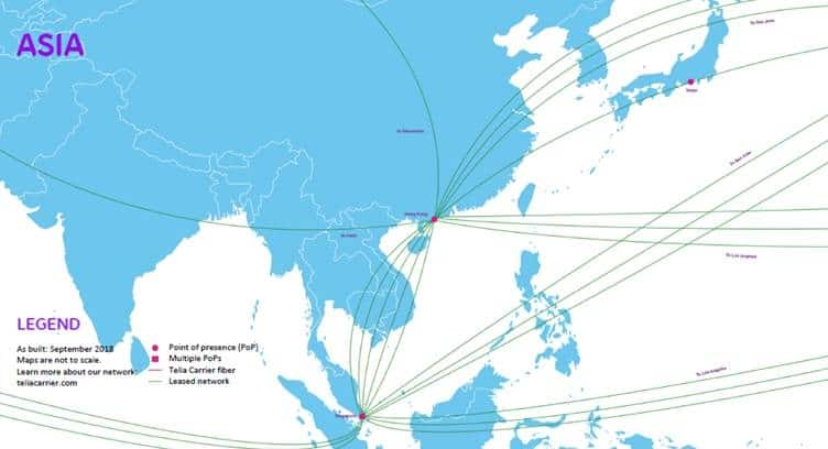 Telia Carrier Extends Network in APAC with a New PoP in Tokyo