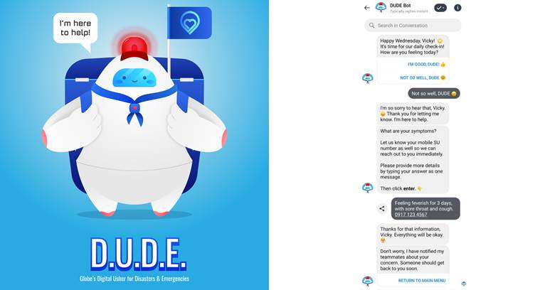 Globe Telecom Launches Chatbot to Monitor Employees' Health during COVID-19 Outbreak
