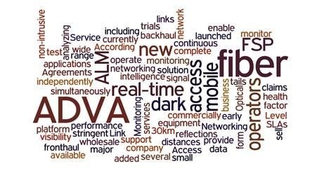 ADVA's New Access Link Monitoring Solution Provides Real-Time Performance Monitoring of Dark Fiber