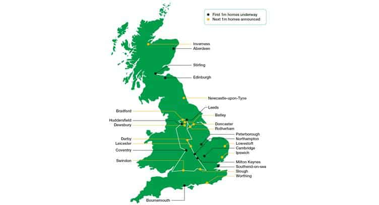 UK's CityFibre Confirms Expansion of Full Fibre Rollout to 14 More Cities