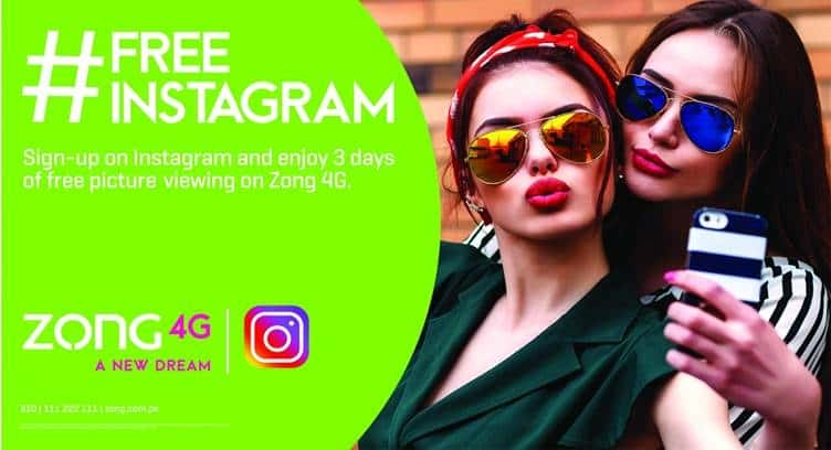 Pakistan's Zong 4G Enables Prepaid Subscribers to Sign Up on Instagram
