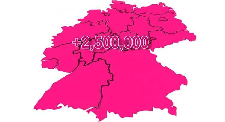Deutsche Telekom Increases Speed to up to 250 Mbps for 2.5 million Broadband Lines