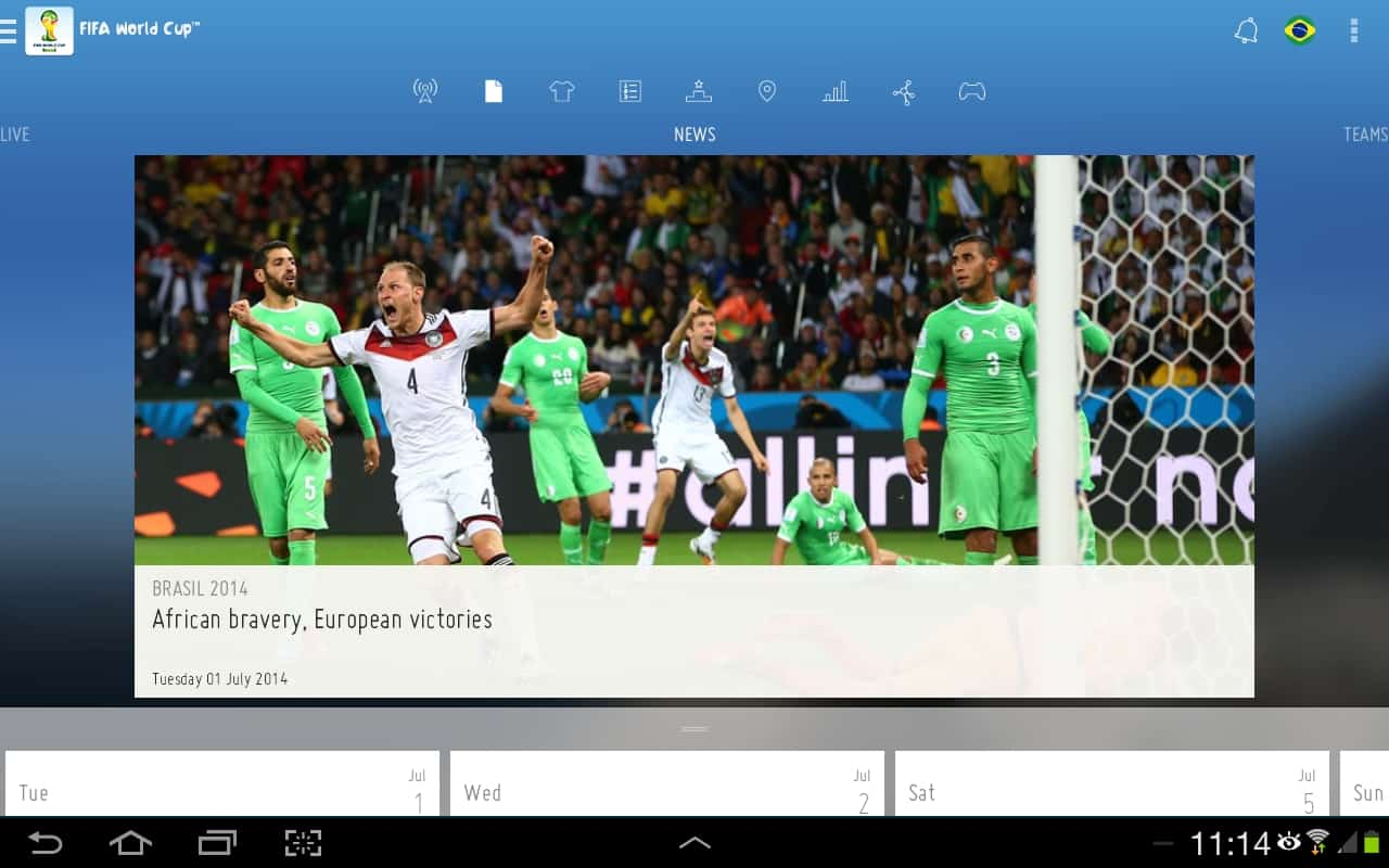 US Tops the Use of the FIFA World Cup App, 25 Million Total Downloads