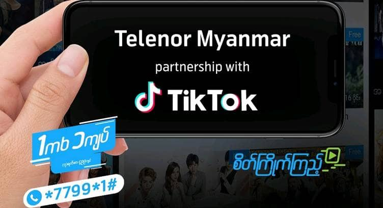Telenor Myanmar Adds TikTok to Low Cost Streaming Data Plan